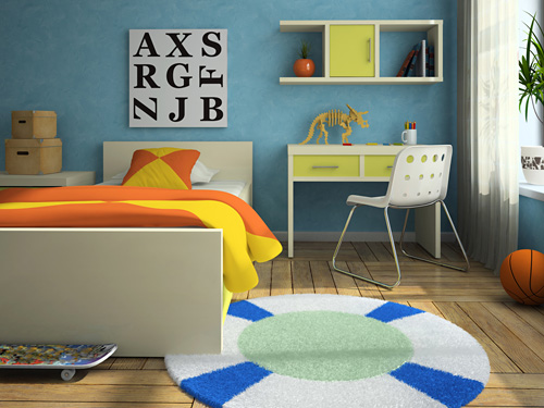 kinderzimmer - auro schweiz - naturfarben - Wandfarbe Kinderzimmer Orange